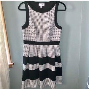 Elle Black and white Dress